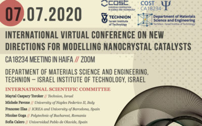 """1st virtual-conference : """"New directions for modeling nanocrystal catalysts"""""""
