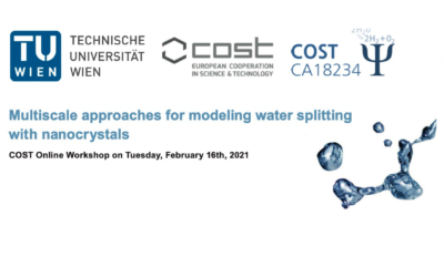 Multiscale approaches for modeling water splitting with nanocrystals